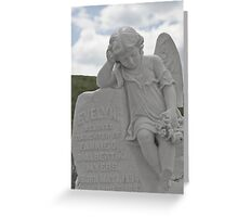 Tombstone for a little Angel Greeting Card