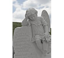 Tombstone for a little Angel Photographic Print