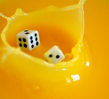 splashing dice by Danielle  Kay