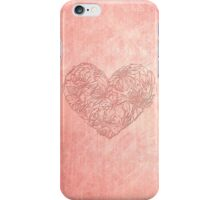 Hearts & flowers in pink iPhone Case/Skin
