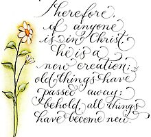 Inspirational 2 Corinthians 5:17 All things new by Melissa Goza