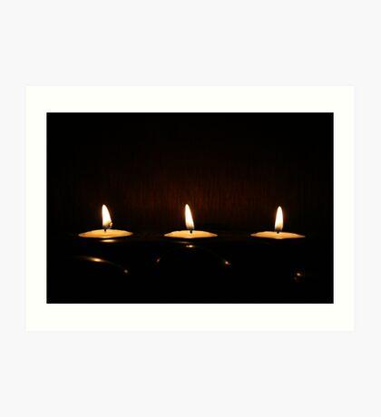 3 Candles Art Print
