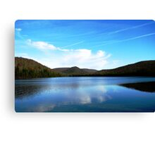 Loon Lake in Winter Canvas Print