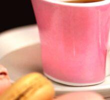 Macarons And Espresso in Love Sticker