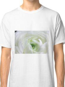 White Ranunculus Classic T-Shirt