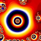 Fire of The Eye Fractal Design  by Rob Davies