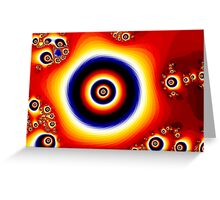 Fire of The Eye Fractal Design  Greeting Card