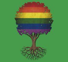 Tree of Life with Gay Pride Rainbow Flag Baby Tee