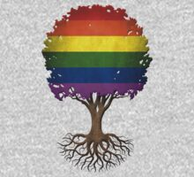 Tree of Life with Gay Pride Rainbow Flag Kids Clothes