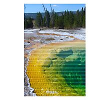Hot Spring Dots & Lines Photographic Print