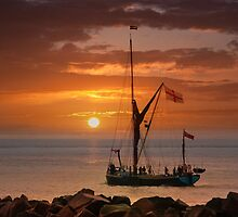 Sailing into the sunset by Geoff Carpenter