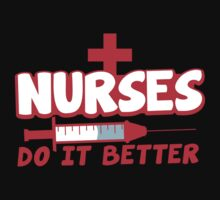 NURSES do it better! with hypodermic needle One Piece - Short Sleeve