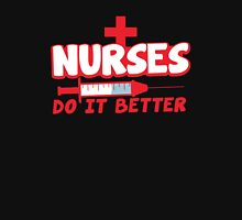 NURSES do it better! with hypodermic needle Womens Fitted T-Shirt