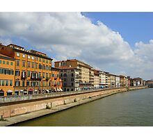Buildings along the river, Pisa, Italy Photographic Print