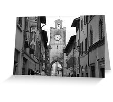 Time stands still in Pisa, Italy Greeting Card