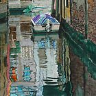 A quiet spot, Venice by Freda Surgenor