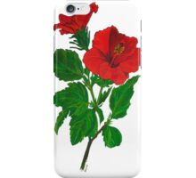 Aloha Red Hibiscus Greetings iPhone Case/Skin