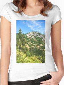 Lean In - A Mountain Lake Impression Women's Fitted Scoop T-Shirt