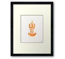 Yoga: book, life, love Framed Print
