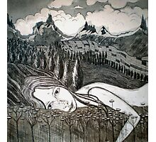 Amy's Travels - Aquatint Etching Photographic Print