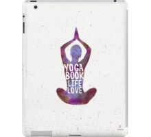 Yoga: book, life, love Caribbean colors iPad Case/Skin