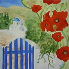 Lefkes Spring Poppies by Paula Swenson