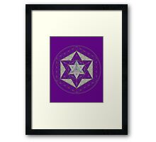 Flower of Life, Vector Equilibrium, Merkaba   Framed Print