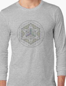 Flower of Life, Vector Equilibrium, Merkaba   Long Sleeve T-Shirt