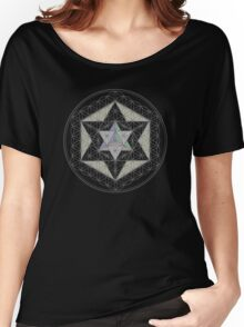 Flower of Life, Vector Equilibrium, Merkaba   Women's Relaxed Fit T-Shirt