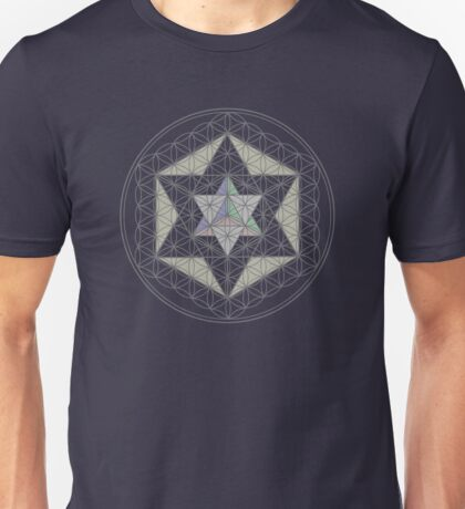 Flower of Life, Vector Equilibrium, Merkaba   Unisex T-Shirt