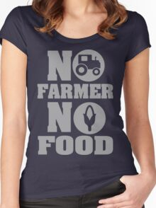 No farmer no food Women's Fitted Scoop T-Shirt