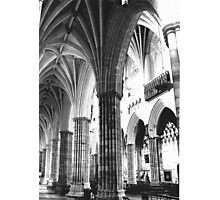 Exeter Cathedral - Columns  Photographic Print