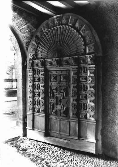 Exeter Cathedral - Mediaeval Door. by Peter Sandilands