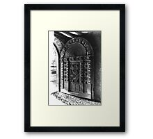 Exeter Cathedral - Mediaeval Door. Framed Print