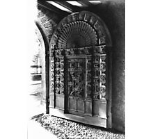 Exeter Cathedral - Mediaeval Door. Photographic Print