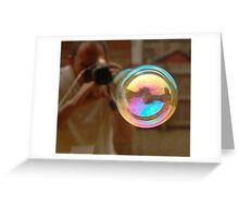 Photographing Bubbles Greeting Card