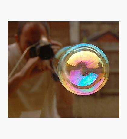Photographing Bubbles Photographic Print