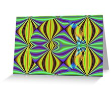 Colors and patterns Greeting Card