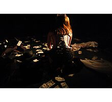 Money is also a girl's best friend since it buys diamonds Photographic Print