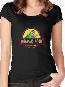 Jurassic Pork Women's Fitted Scoop T-Shirt