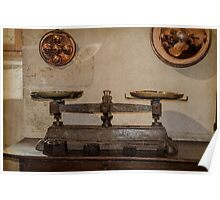 Antique Weighing Scales Poster