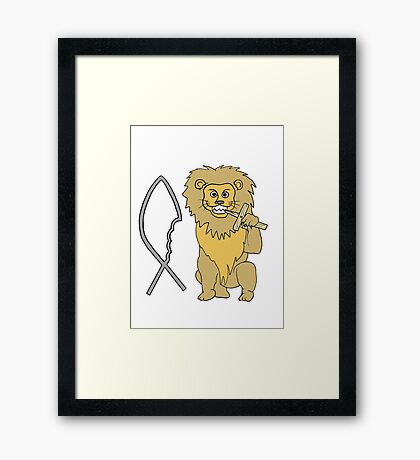 feed them to the lions Framed Print