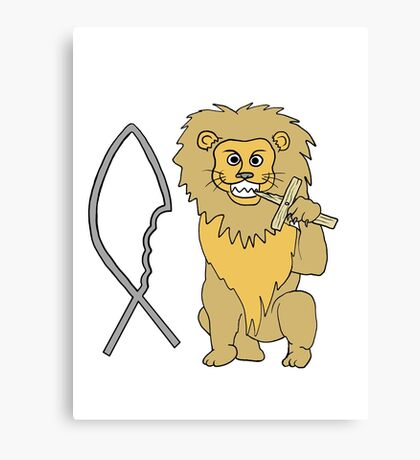 feed them to the lions Canvas Print