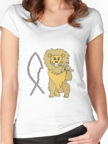 feed them to the lions Women's Fitted Scoop T-Shirt