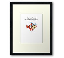 Finding emo in the labyrinth Framed Print