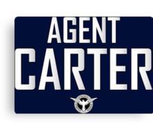 Agent Carter Canvas Print