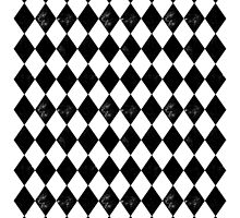 Diamond - Black and White, minimal, monochrome, greyscale, bold graphic pattern  by charlottewinter