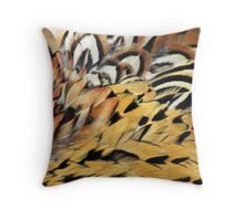 Pheasant Feathers Throw Pillow