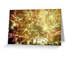Frenzied Fireworks Greeting Card