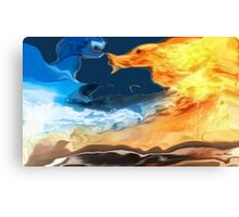Crazy weather- Abstract-design products Canvas Print